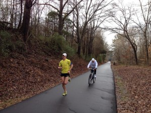 My workout Wednesday along the Swamp Rabbit Trail