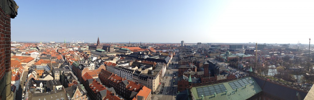 View from the City Hall Tower. Looking from the city center on the Left.
