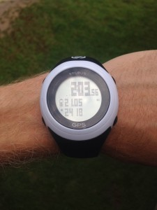 2:04 hrs for 21 miles! The last 10 in under 56 minutes! Thanks to Soleus for tracking our run!