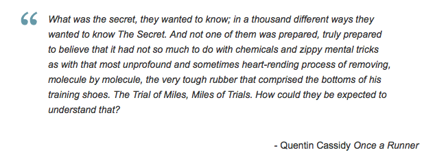 Once a Runner-Trial of Miles