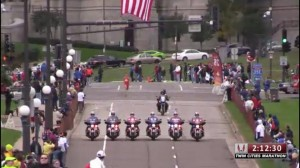 Being escorted in by the motorcade was pretty awesome!