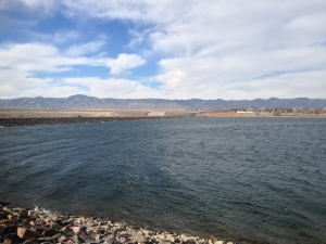 Great 20 miler along the South Platte! Looking at the mountains from the front range.