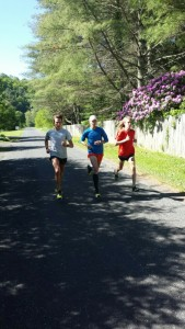 Joe, Andrew, and me during our progression run.