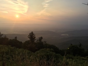 The sunset over the Shenandoah Valley. My few days in the wilderness were fantastic.
