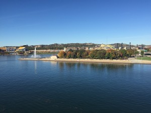 Point State Park. The sight of both Fort Duquesne and fort Pitt.