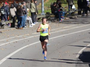In Central Park again. Just trying to keep it all together the last mile. Photo Credit: Tim Meigs